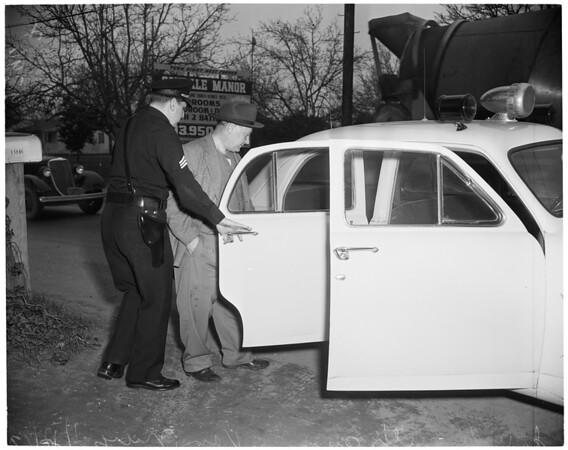 Drunk with gun, 1953