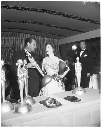 Film awards at Del Mar Club, 1953