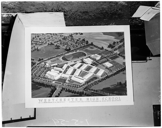 Westchester High School drawing, 1954