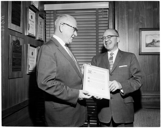 Treasury Award to the Examiner, 1960