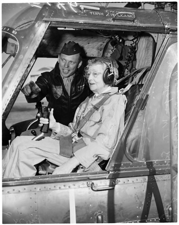 Pearson helicopter flight, 1953
