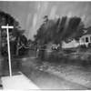 Light poles down at 46th Street between San Pedro Street and Avalon Boulevard, 1954