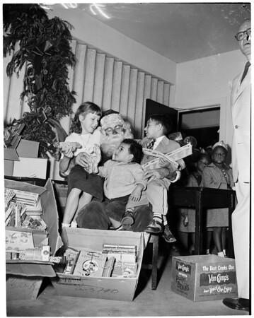 Christmas -- California babies and Children's Hospital, 1953