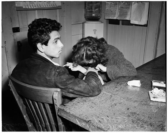Narcotics arrest (Central jail), 1953