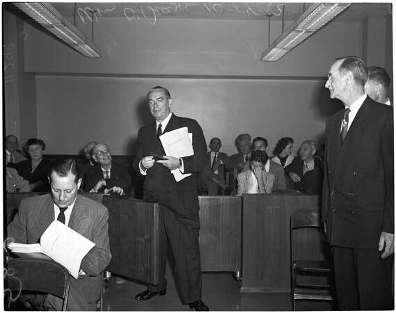 Sub-Committee hearing on communism, 1954