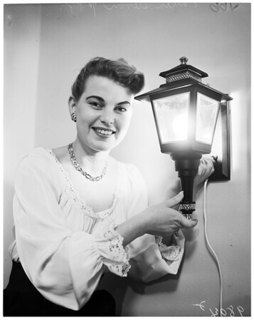 Lamp show at Biltmore, 1953