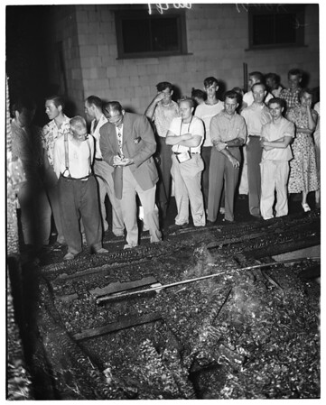 Fire at 351 North Avenue 57 (man burned to death) (rest home), 1953