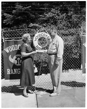 Woodcraft Rangers (Lake Arrowhead camp pool dedicated), 1954