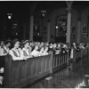Detail 3 of 6, Catholic Daughters at High Mass at Saint Vibiana's Cathedral, 1953
