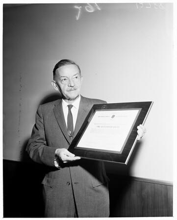 Detail 7 of 15, Clean air awards, 1960