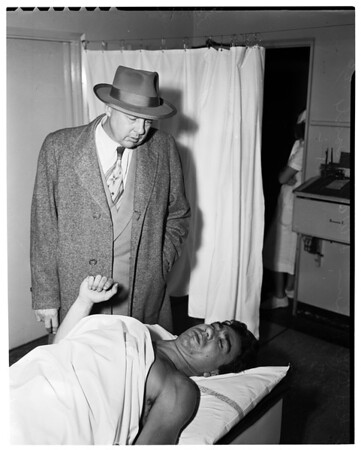 Shooting victim, 1953