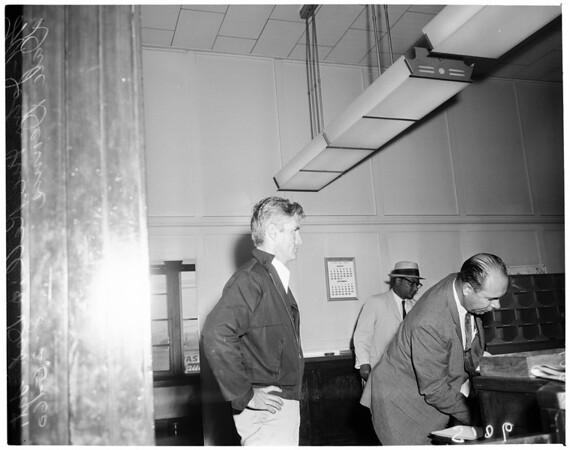 Detail 1 of 2, Burglar captured by Judge Stevens, 1960