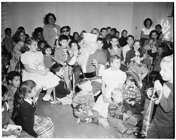 Christmas party (Marion Davies Clinic), 1953