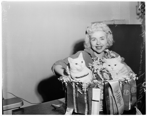 Prize cats, 1957