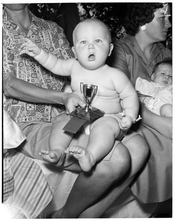 Detail 2 of 5, Baby show at Ladera Park, 1960