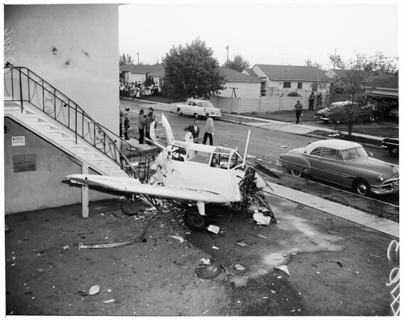 Detail 7 of 7, Compton plane crash, 1960