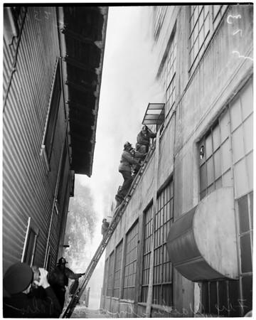 Detail 4 of 5, Fire at Washington Boulevard and San Pedro Street, 1953