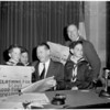 Detail 1 of 2, Cub Scouts visit City Council, 1953