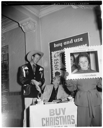 Christmas seals on sale, 1953