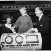 Flying iron lung, 1954