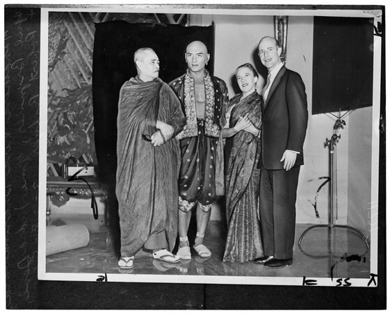 Robert Balzer to become a monk (copy negative), 1956