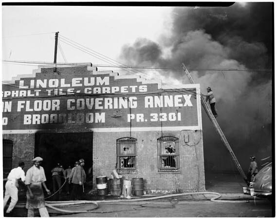 Detail 14 of 19, Fire at Pico Boulevard and Broadway, 1954
