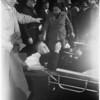 Motorcycle officer hit on bike, 1953
