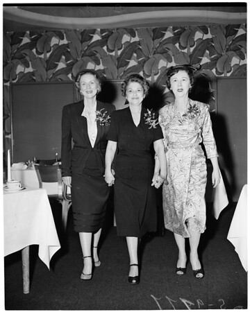 Detail 1 of 4, American Women's Voluntary Services luncheon, 1955
