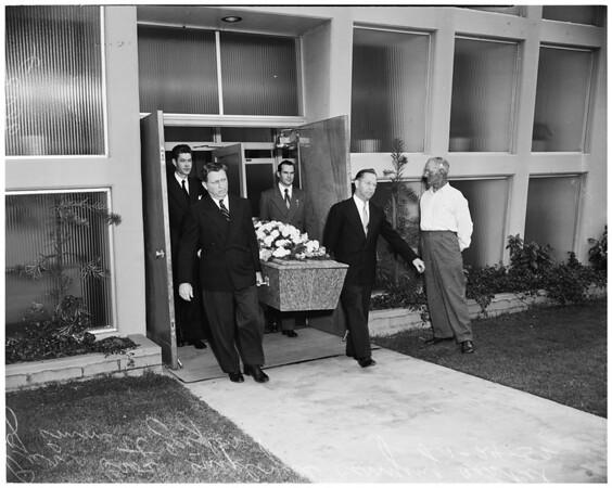 Emmett Zeigler (funeral), 1953