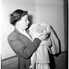 Abandoned baby at General Hospital (baby abandoned in parked auto), 1953