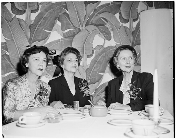 Detail 3 of 4, American Women's Voluntary Services luncheon, 1955