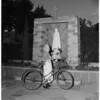 Detail 6 of 6, Bicycling grandmother, 1953