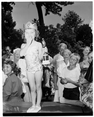 """Detail 2 of 5, """"Miss California Junior"""" contest, 1953"""