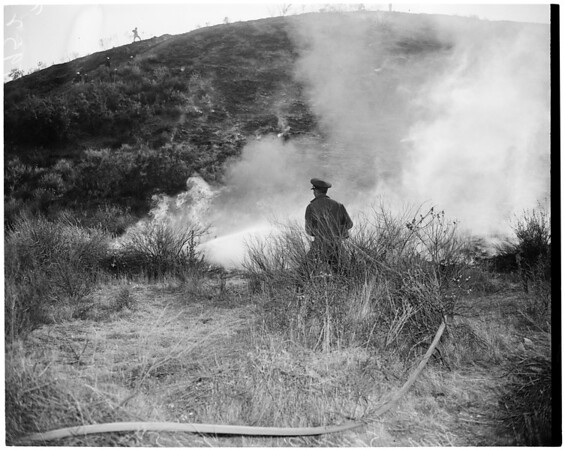 Detail 5 of 17, Fire at Dry Canyon 3 miles North East of Saugus, 1953