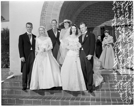 Joe E. Brown's daughters married, 1953