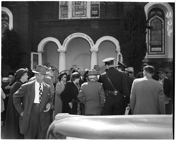 Greek Church closed (Greek Orthodox Church at 1216 San Julian Street), 1953