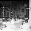 Saint Vibiana Church Christmas mass, 1953