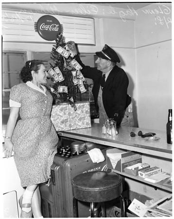 Dollar bill Christmas tree, 1953