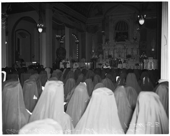 Cardinal's mass, 1953