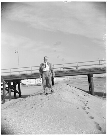 Seal Beach erosion, 1953
