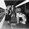 """Detail 1 of 2, """"Carnival in Flanders"""" Company arrival at Union Station, 1953"""