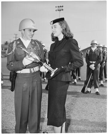 Trophy award to cadet, 1953