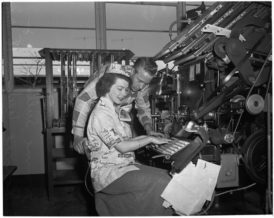 """Miss Printer's Devil"", 1953"