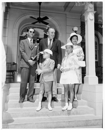 Detail 2 of 4, King and Queen of Thailand at Disneyland, 1960