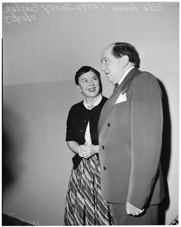Ella Logan in court, 1953