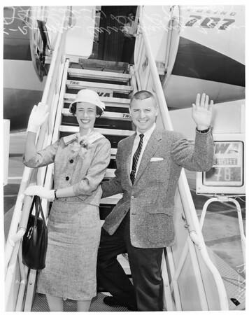 "Leaving for Miami (""Mrs. California Contest""), 1960"