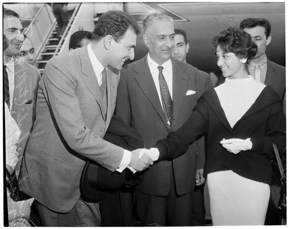 Detail 1 of 3, Iranian Ambassador arrival, 1960
