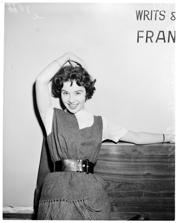 Movie starlet (Tower press room), 1953