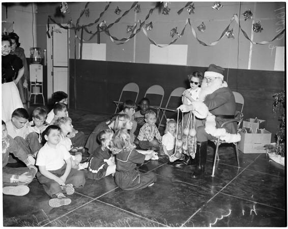 Blind children party, 1953