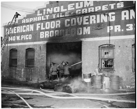 Detail 8 of 19, Fire at Pico Boulevard and Broadway, 1954